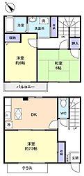 [テラスハウス] 千葉県八千代市八千代台西10丁目 の賃貸【/】の間取り