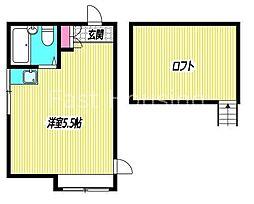 東京都中野区中野6丁目の賃貸アパートの間取り