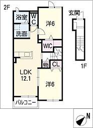 サニーハイツSEINAI IV[2階]の間取り