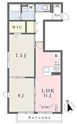 ウィット和泉中央南 1階2LDKの間取り