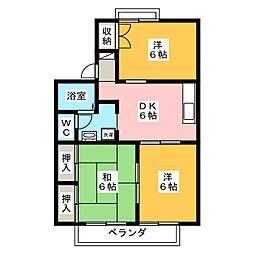 リーザカミアシ[2階]の間取り