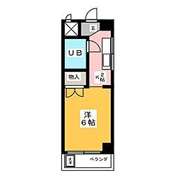 エクセレント小桜[2階]の間取り