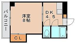 ルポ馬出[3階]の間取り