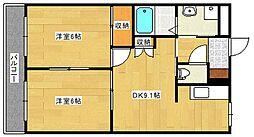 広島県広島市安佐南区長束西1丁目の賃貸マンションの間取り