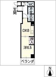 CHARITE星ヶ丘[2階]の間取り