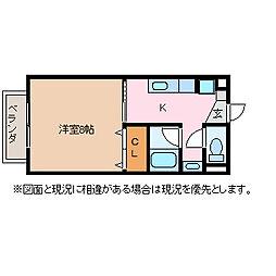 長野県松本市寿北5丁目の賃貸アパートの間取り
