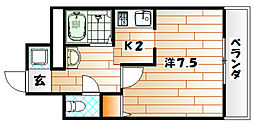 エース八幡マンション[5階]の間取り
