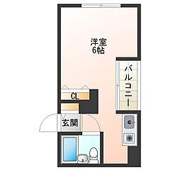 西舞子メゾン[2階]の間取り