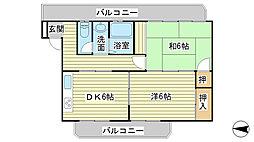 日山マンション[3-2号室]の間取り