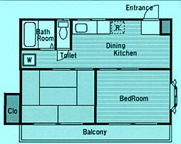 二子ガーデン[2階]の間取り