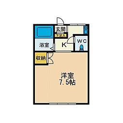 KIハイムA棟[1階]の間取り