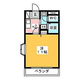 BELL PRIMAL K.I.[2階]の間取り