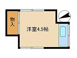 東京都板橋区成増3丁目の賃貸アパートの間取り