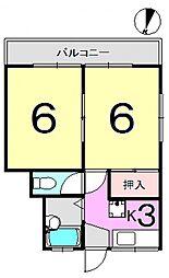 オノダハイツ[201号室号室]の間取り