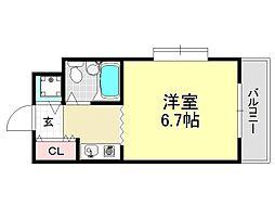 ジョイフル平野[3O1号室号室]の間取り