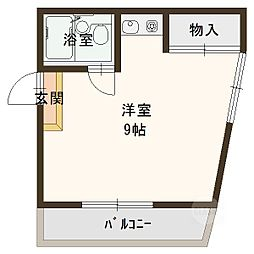 川島第19ビル[4階]の間取り