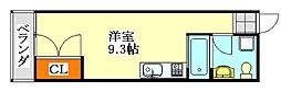 CASA OKUNISHI[6号室]の間取り