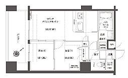 神奈川県横浜市中区初音町3丁目の賃貸マンションの間取り