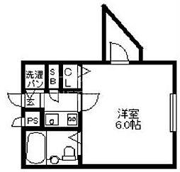 DETOM-1二条城東[206号室号室]の間取り