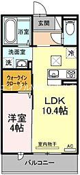 JR山陽本線 高島駅 徒歩6分の賃貸マンション 1階1LDKの間取り