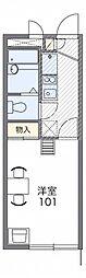 レオパレスガーデニア横浜[2階]の間取り