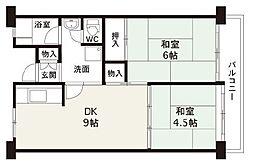 佐野湊団地1号棟[5階]の間取り