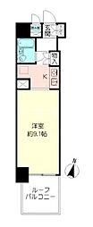 コスモ横浜吉野町[3階]の間取り