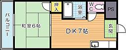 内山第20ビル[406号室]の間取り