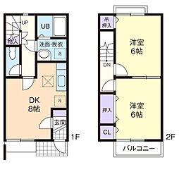 プラムヒル C[2階]の間取り