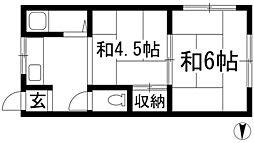 兵庫県西宮市一里山町の賃貸マンションの間取り