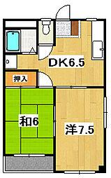 平成マンション[302号室]の間取り