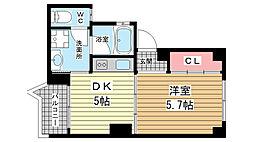 兵庫県神戸市中央区相生町2丁目の賃貸マンションの間取り