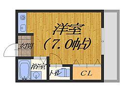 大阪府堺市堺区浅香山町3丁の賃貸アパートの間取り