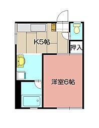 CASA KAORI B棟[103号室]の間取り