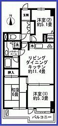 東京都江戸川区本一色1丁目の賃貸マンションの間取り