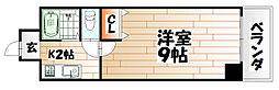 KMマンション八幡駅前II[4階]の間取り
