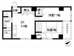 テルセーロ川崎(安心のオートロック付)[301(角部屋)号室]の間取り