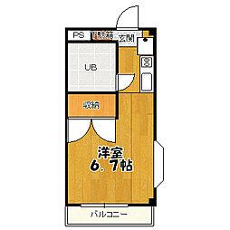 西恋ハイツ[2階]の間取り