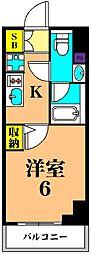 京急本線 新馬場駅 徒歩2分の賃貸マンション 4階1Kの間取り