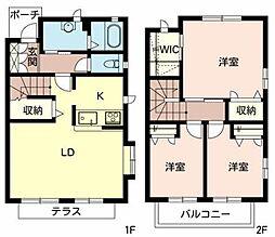 平岡ガーデンハウスB[2階]の間取り