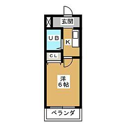 愛知県名古屋市南区呼続3の賃貸マンションの間取り