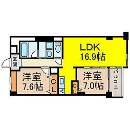 愛知県名古屋市東区橦木町2丁目の賃貸マンションの間取り