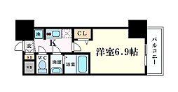 Osaka Metro中央線 阿波座駅 徒歩1分の賃貸マンション 11階1Kの間取り