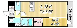 プランドール 3階1LDKの間取り