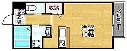 大阪府交野市私部2丁目の賃貸アパートの間取り