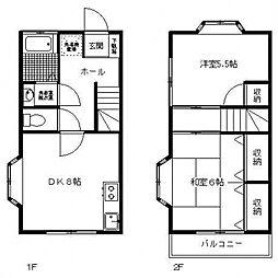 [テラスハウス] 神奈川県川崎市多摩区長沢1丁目 の賃貸【/】の間取り