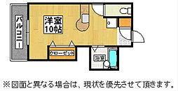 陣山ハイマート[9階]の間取り