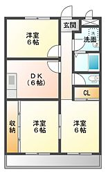 スカイタウン藤井A[2階]の間取り