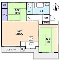 クローバーハイツ4号棟[1階]の間取り