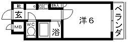 ハートフル藤井寺[503号室号室]の間取り